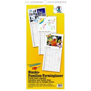 Familienkalender 23 x 49 cm weiß