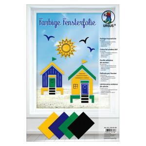 Farbige Fensterfolie 23 x 33 cm - 8 Blatt sortiert