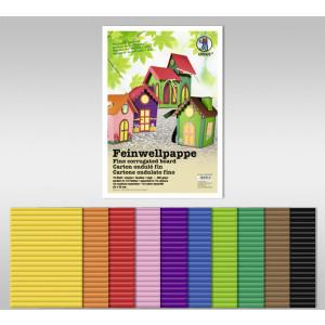Feinwellpappe 300 g/qm 50 x 70 cm - 10 Bogen sortiert