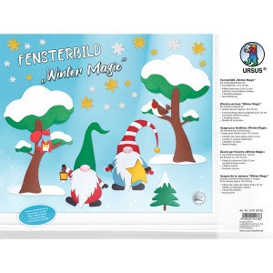 """Fensterbilder """"Winterzauber"""", 24,8 x 33 cm"""