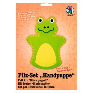 """Filz-Set """"Handpuppe"""" Frosch"""