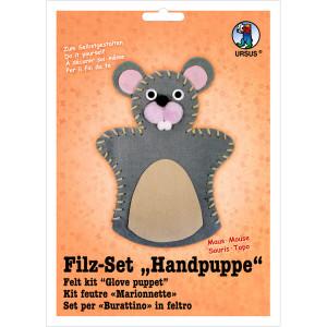 """Filz-Set """"Handpuppe"""" Maus"""