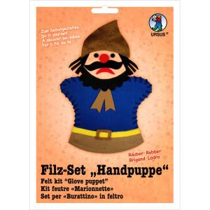 """Filz-Set """"Handpuppe"""" Räuber"""