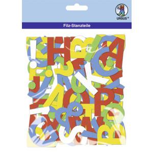 """Filz-Stanzteile """"Buchstaben"""" selbstklebend - 150 Buchstaben"""