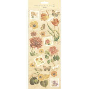 "Flat Sticker ""Flowers"" beige"
