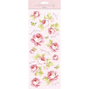 "Flat Sticker ""Flowers"" rosa"