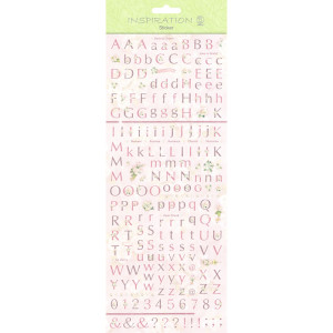 "Flat Sticker ""Letters"" altrosa"