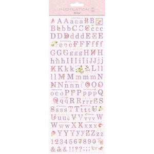 "Flat Sticker ""Letters"" rosa"