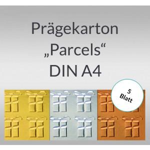"Folien-Prägekarton ""Parcels"" DIN A4 - 5 Blatt"