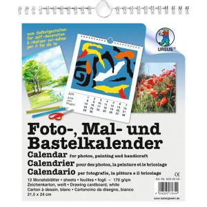 Foto-, Mal- und Bastelkalender weiß