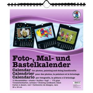 Fotokalender 21,5 x 24 cm schwarz