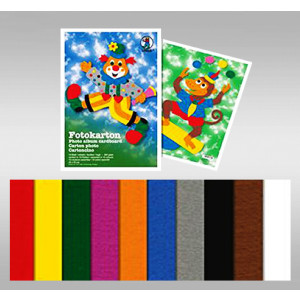 Fotokarton 23 x 33 cm - 10 Blatt sortiert