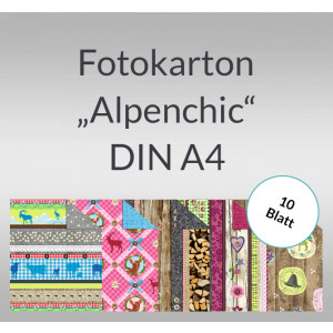 """Fotokarton """"Alpenchic"""" DIN A4 - 10 Blatt"""