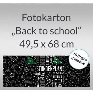 """Fotokarton """"Back to school"""" 49,5 x 68 cm - 10 Bogen sortiert"""