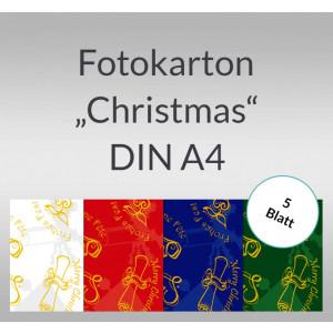 """Fotokarton """"Christmas"""" DIN A4 - 5 Blatt"""