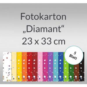 """Fotokarton """"Diamant"""" 22 x 33 cm - 5 Blatt"""