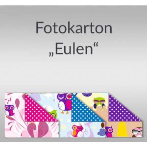 """Fotokarton """"Eulen"""" DIN A4 - 10 Blatt"""