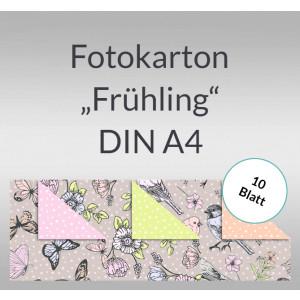 """Fotokarton """"Frühling"""" DIN A4 - 10 Blatt"""