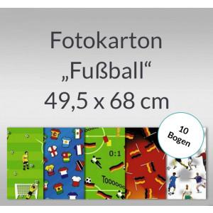 "Fotokarton ""Fußball"" 49,5 x 68 cm - 10 Bogen"