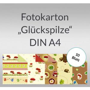 """Fotokarton """"Glückspilze"""" DIN A4 - 10 Blatt"""