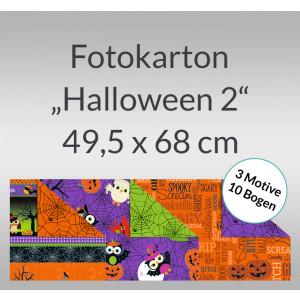 """Fotokarton """"Halloween 2"""" 49,5 x 68 cm - 10 Bogen sortiert"""