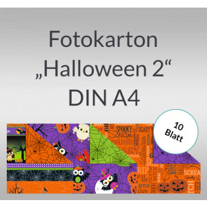 "Fotokarton ""Halloween 2"" DIN A4 - 10 Blatt"