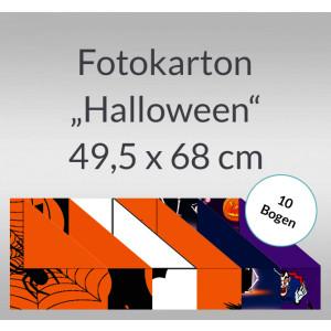 """Fotokarton """"Halloween"""" 49,5 x 68 cm - 10 Bogen"""