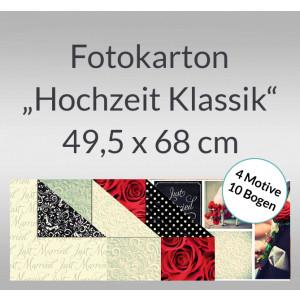 """Fotokarton """"Hochzeit Klassik"""" 49,5 x 68 cm - 10 Bogen sortiert"""