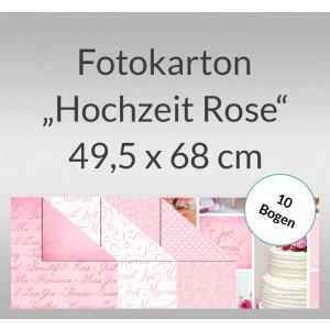 """Fotokarton """"Hochzeit Rose"""" 49,5 x 68 cm - 10 Bogen"""