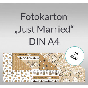 "Fotokarton ""Just Married"" DIN A4 - 10 Blatt"