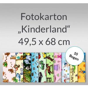 "Fotokarton ""Kinderland"" 49,5 x 68 cm - 10 Bogen"