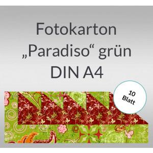 """Fotokarton """"Paradiso"""" grün DIN A4 - 10 Blatt"""