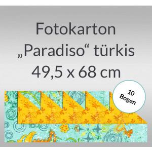 "Fotokarton ""Paradiso"" türkis 49,5 x 68 cm - 10 Bogen"