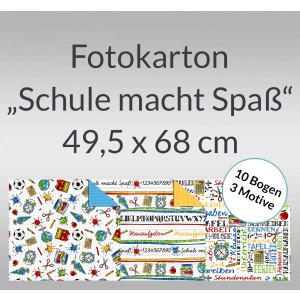 """Fotokarton """"Schule macht Spass"""" 49,5 x 68 cm - 10 Bogen sortiert"""