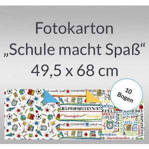 """Fotokarton """"Schule macht Spass"""" 49,5 x 68 cm - 10 Bogen"""