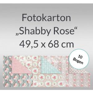 """Fotokarton """"Shabby Rose"""" 49,5 x 68 cm - 10 Bogen"""