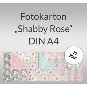 """Fotokarton """"Shabby Rose"""" DIN A4 - 10 Blatt"""