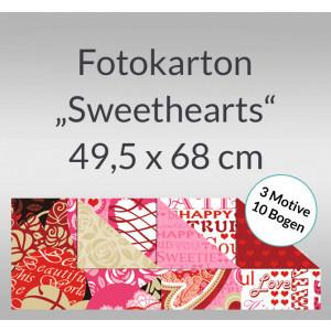 """Fotokarton """"Sweethearts"""" 49,5 x 68 cm - 10 Bogen sortiert"""