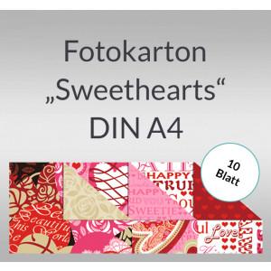 "Fotokarton ""Sweethearts"" DIN A4 - 10 Blatt"