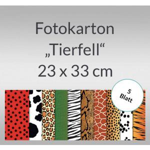 """Fotokarton """"Tierfell"""" 23 x 33 cm - 5 Blatt"""