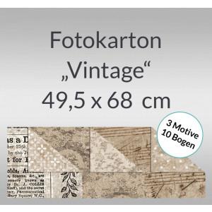 """Fotokarton """"Vintage"""" 49,5 x 68 cm - 10 Bogen sortiert"""