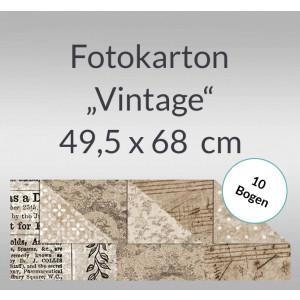 """Fotokarton """"Vintage"""" 49,5 x 68 cm - 10 Bogen"""