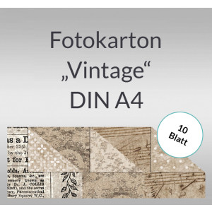"Fotokarton ""Vintage"" DIN A4 - 10 Blatt"
