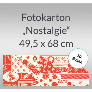 """Fotokarton Weihnachten """"Nostalgie"""" 49,5 x 68,0 cm - 10 Bogen"""