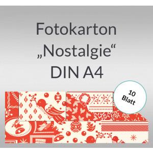 """Fotokarton Weihnachten """"Nostalgie"""" DIN A4 - 10 Blatt"""