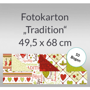 """Fotokarton Weihnachten """"Tradition"""" 49,5 x 68,0 cm - 10 Bogen"""