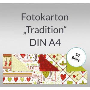 "Fotokarton Weihnachten ""Tradition"" DIN A4 - 10 Blatt"