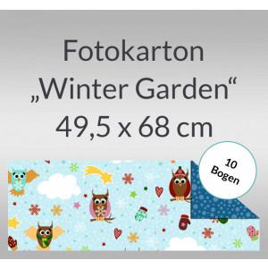 "Fotokarton ""Winter Garden"" 49,5 x 68 cm Eulen - 10 Bogen"