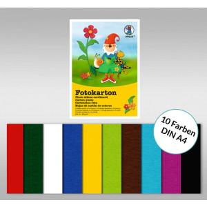Fotokartonblock DIN A4 - 10 Blatt sortiert