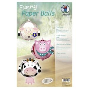 """Funny Paper Balls """"Farmtiere"""""""